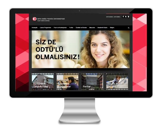 Web design for Middle East Technical University Northern Cyprus Campus