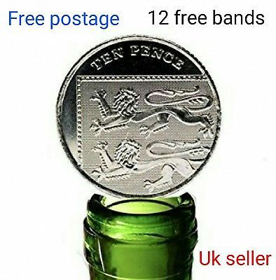 cheap folding Coin 10p  Magic Trick Coin in the Bottle 10 pence Close up Dynamo