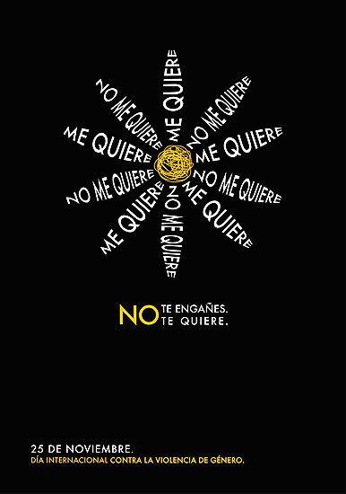 Diseño contra la violencia DISEÑO CONTRA LA VIOLENCIA Cartel de Julia Fernández López, de Madrid.  V