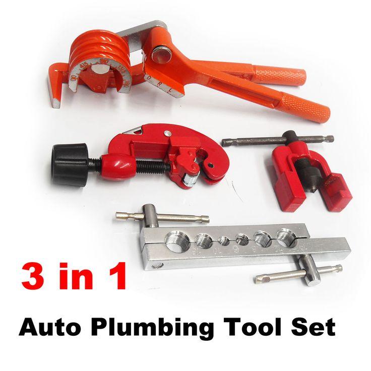 Auto Plumbing Tool Kit Copper Pipe Cutter, 180° Tube Bender, Flaring Expander   eBay