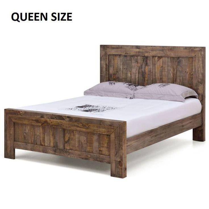the 25 best timber bed frames ideas on pinterest rustic wood bed frame timber beds and log. Black Bedroom Furniture Sets. Home Design Ideas
