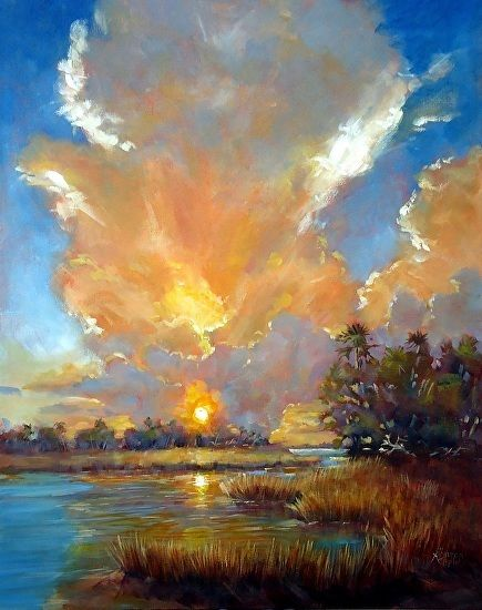 The Light Show by Sharon Repple was awarded Outstanding Acrylic in the June BoldBrush Painting Competition.
