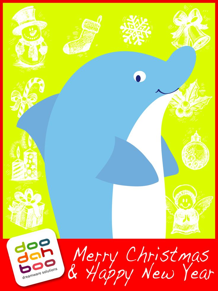 Dolphin Christmas Greetings Card