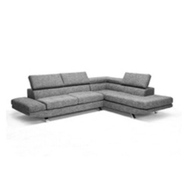 baxton studio adelaide gray twill fabric modern sectional sofa td1909