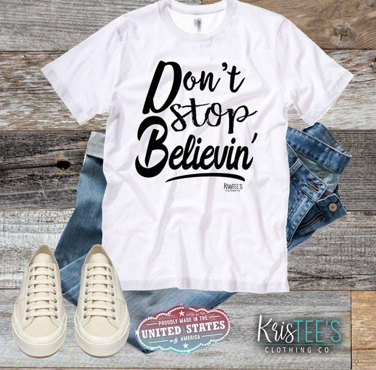 Don't Stop Believin' Bella Canvas Unisex Tee #journey #80smusic