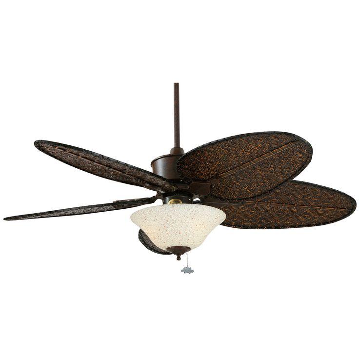52 Islander 5 Blade Ceiling Fan Ceiling Fan Bamboo Blade