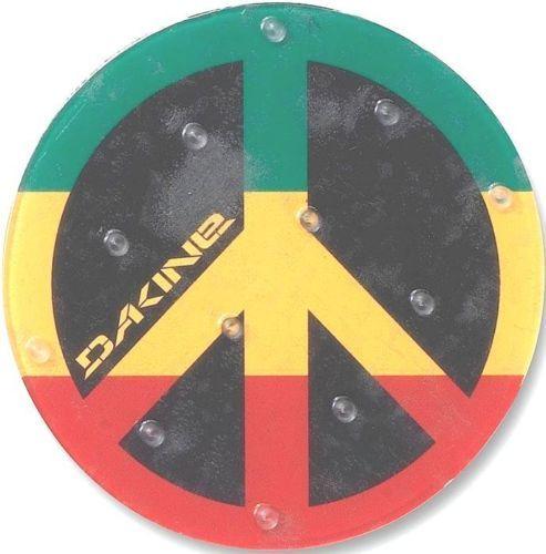 New Dakine Circle Peace Sign Snowboard Stomp Pad Rasta