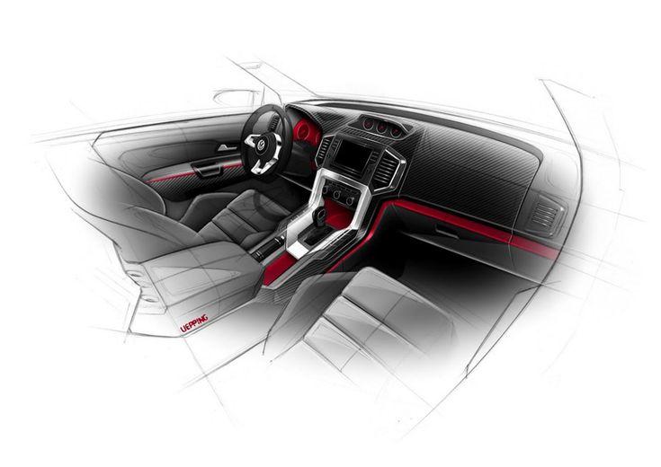 Volkswagen Amarok Power-Pickup Concept Interior Design Sketch