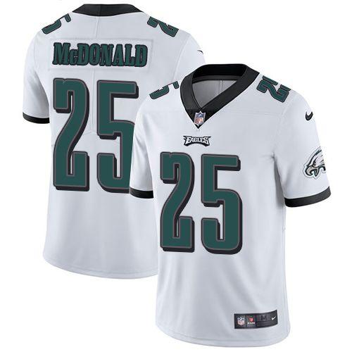 Men's Philadelphia Eagles #25 Tommy McDonald Limited Nike NFL Vapor Untouchable Road White Jersey