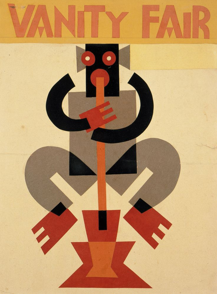 """Fortunato Depero Study for cover for """"Vanity Fair"""" , 1929 – 1930 Collage,  1929…"""