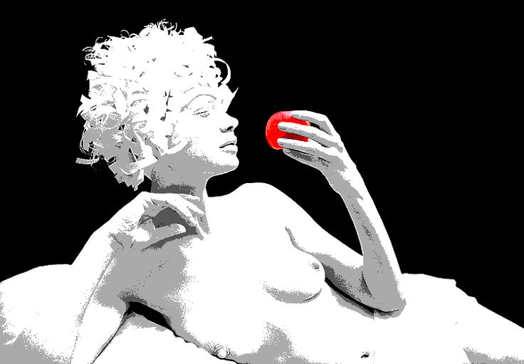 RED APPLE AND WHITE WOMEN