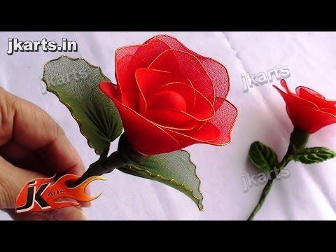 DIY How to make Rose Stocking Flower - JK Arts 091 - YouTube