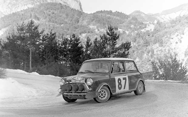 Mini rally car - Rallye Monte Carlo circa 1967