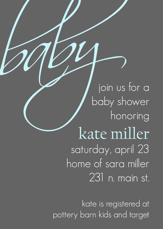 Kate Modern Baby Shower Invitation perfect by andreagerigdesigns, $15.00