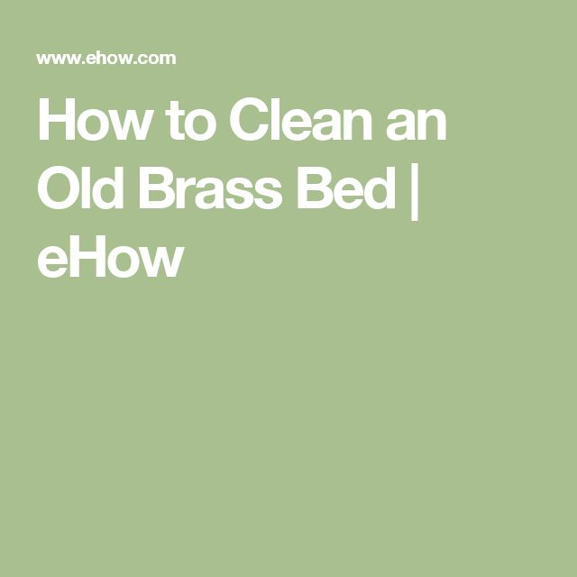 how to clean old brass