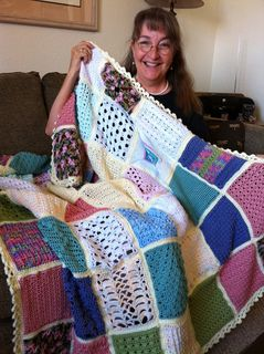 There are 63 squares using different crochet stitches starting with very basic stitches and increasing in difficulty to the more advanced stitches, thus allowing a beginner to learn and understand many different stitches while making an afghan in the process.