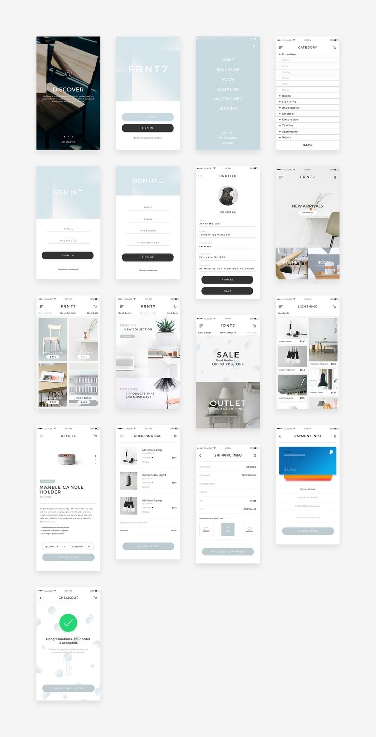 Screens dribbble