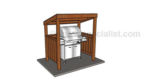 BBQ Grill Shelter Plans