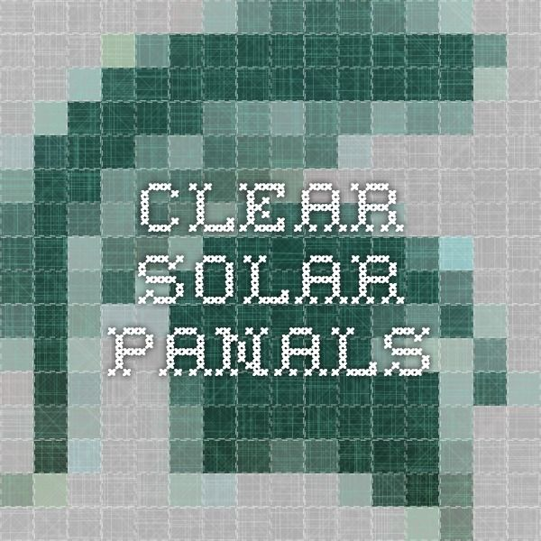 clear solar panals