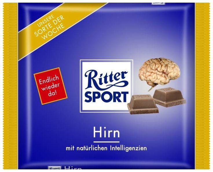 RITTER SPORT Fake Schokolade Sorte Hirn