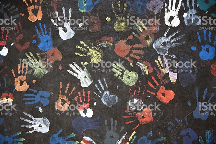 Красочные виде отпечатков рук Стоковые фото Стоковая фотография