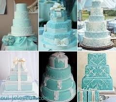 turquoise wedding -cake cake and more cake