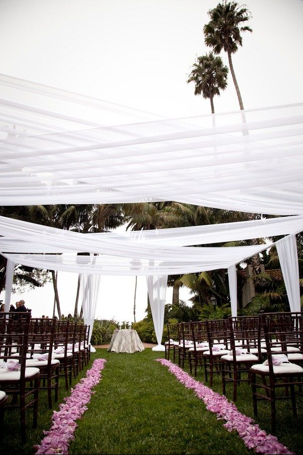 The idea of the sail cloths -- outdoor wedding.