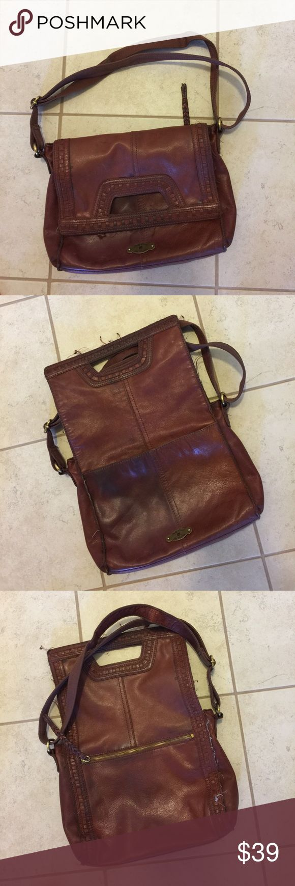 Lucky purse Looks good just needs strings trimmed no holes is aging beautifully Lucky Brand Bags Crossbody Bags