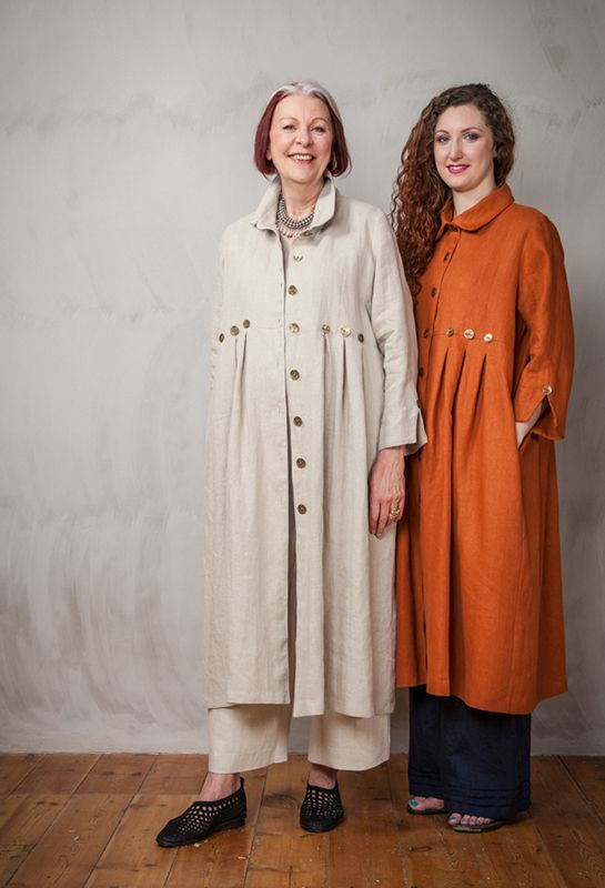 Summer Button Coat in natural linen - Terry Macey and Angelika Elsebach Spring / Summer Collection 2015