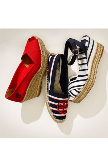 Tory Burch Nautical Wedding Shoes - but they dont have to be for weddings!