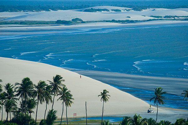 Praia de Jericoacoara - Ceará. Uma das mais belas praias do MUNDO!