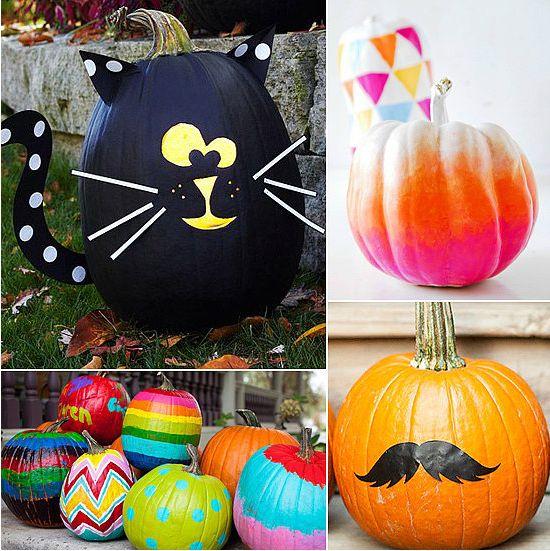 Craftista Kid Friendly No Carve Pumpkin Ideas Holidays Halloween Autumn Pinterest