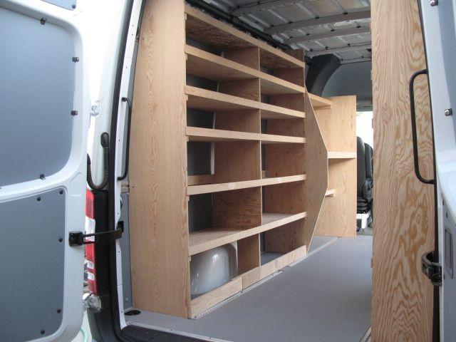 wood shelving storage sprinter forum van organization. Black Bedroom Furniture Sets. Home Design Ideas