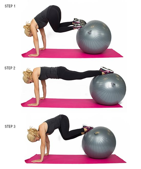 brooke griffin plank twist on stability ball