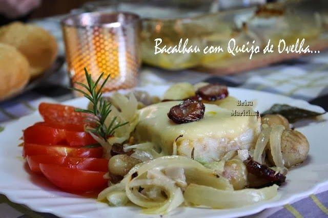 Bacalhau com queijo de ovelha e castanhas http://brisa-maritima.blogspot.pt/2013/12/bacalhau-com-queijo-de-ovelha-e.html