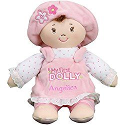 Personalized My First Dolly Brunette, Machine Washable