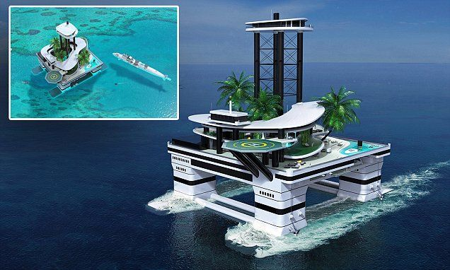 Forget mega yachts - tomorrow's billionaires can buy a portable ISLAND