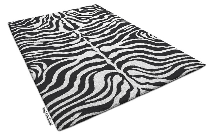 flatten zebra rug - 286466 Customisable hand tufted luxury wool rug by rug couture