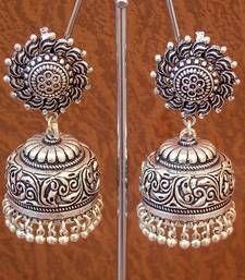 Buy Tribal german silver jhumka earring jhumka online