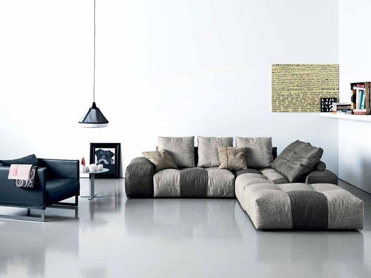 PIXEL | Sofa with chaise longue by Saba Italia | design Sergio Bicego
