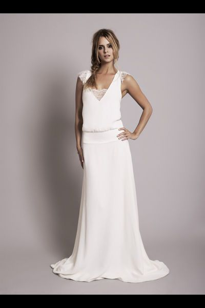 Robe de mariee droite taille basse