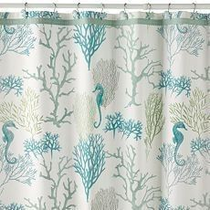 Color scheme inspiration!| Beach Themed Shower Curtains - Bing Images