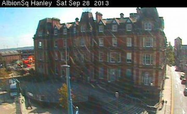 Live camera Hanley Town Hall Hanley, United Kingdom. Current view and daylight picture.