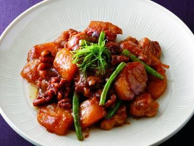 柿と鶏肉の照り焼き