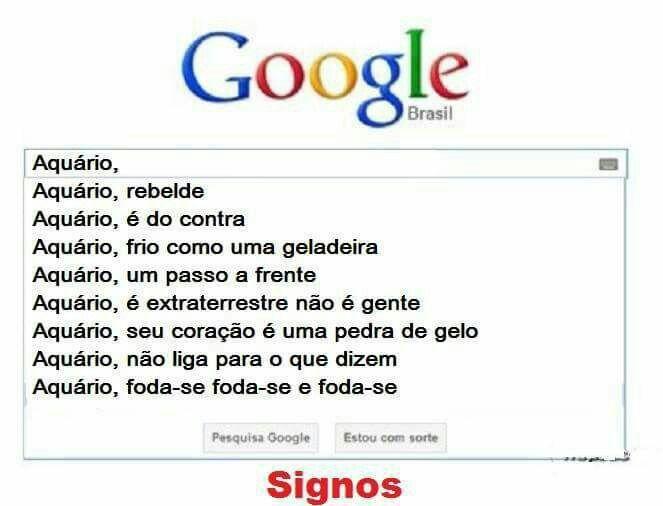 Googleando #Aquário