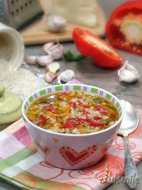 вкусняшки фото | Рисовый суп с шампиньонами