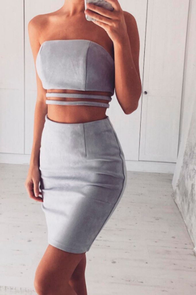 Two Piece Suede Set