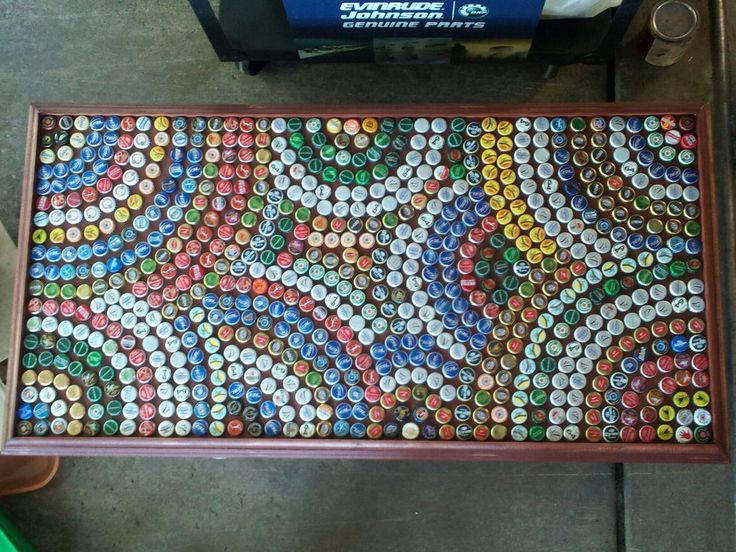 25 best ideas about bottle cap table on pinterest