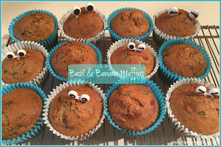 Basil and Banana Muffins - great as a savory or sweet treat!