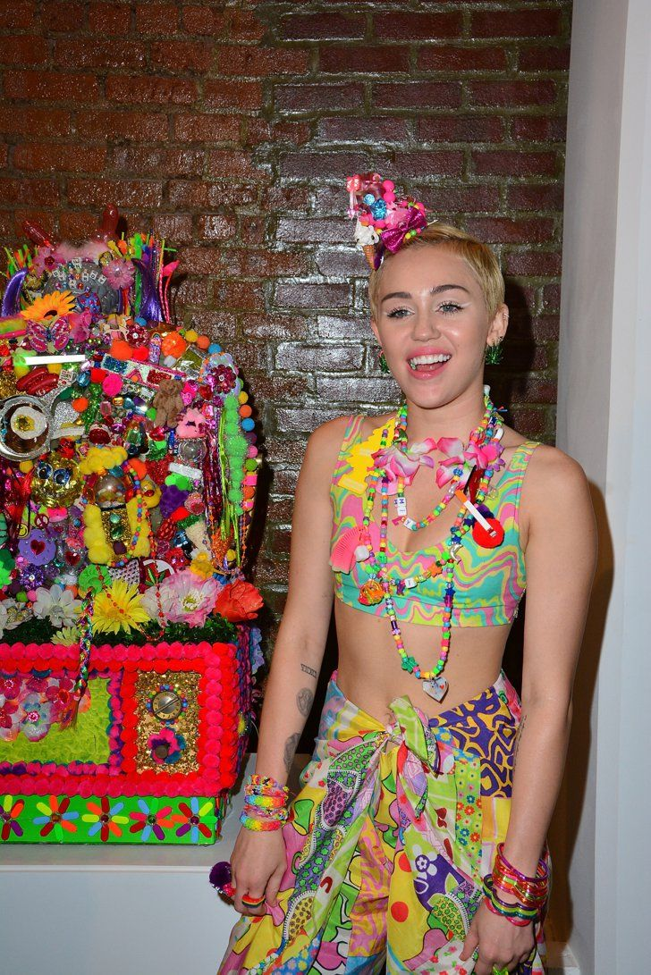 Pin for Later: It's Her Party and She'll Miley If She Wants To Miley Cyrus at Jeremy Scott
